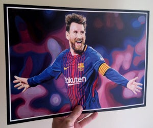 Image of Lionel Messi 'From Rosario To Greatness' A3 Print