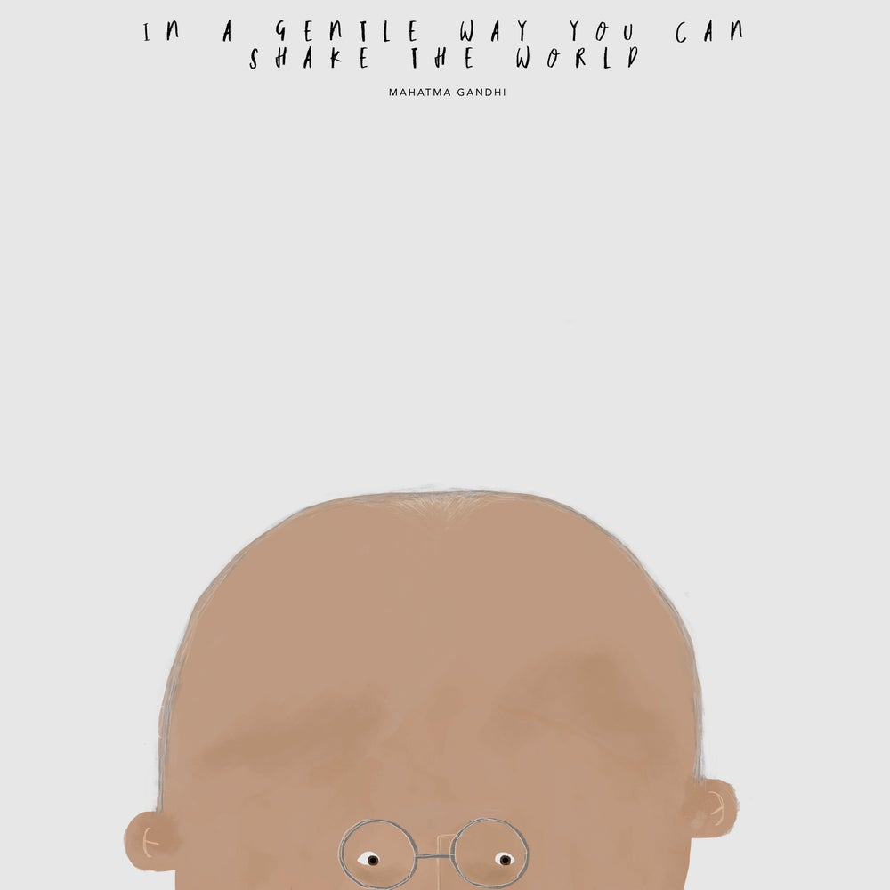 Image of GREAT PEOPLE LIKE GANDHI ILLUSTRATION