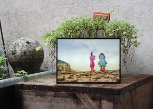 Image of Boîte lumineuse / Photo - Amitié balnéaire