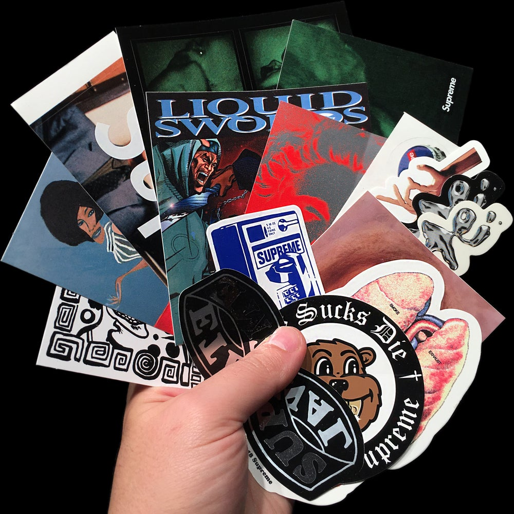 Image of 2018 FW Stickers (Stormy, The Killer, Guts Liquid, Bottle Cap, Madonna, Payphone, Eternal, Faces)