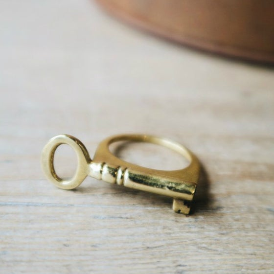Image of The Key-Ring in Brass
