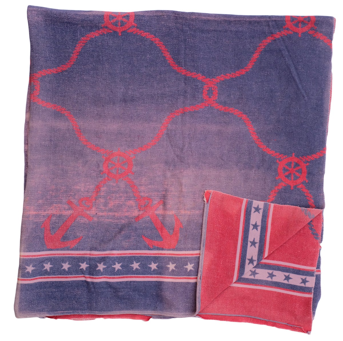 Image of Vintage Nautical Beacon/Camp Blanket
