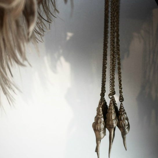 Image of Brass Shell Pendant Necklace