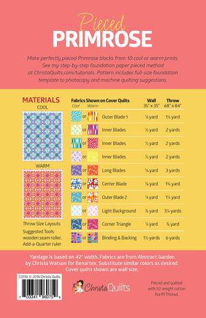 Pieced Primrose Paper Quilt Pattern by Christa Watson (CQ118)