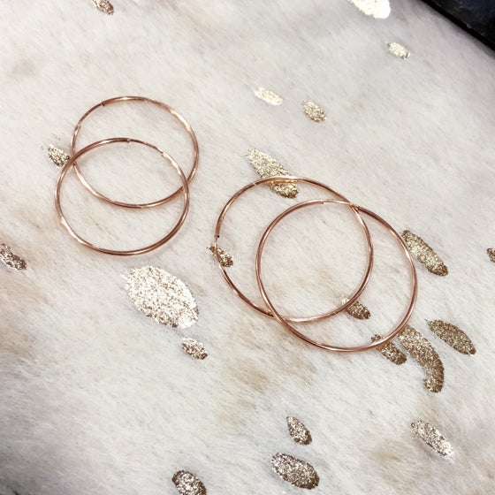 Image of Rose Gold Hoops