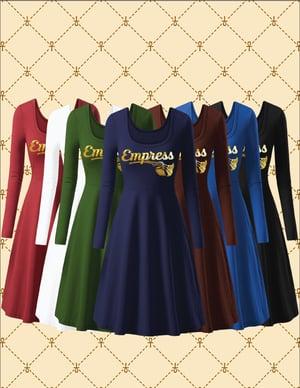 Image of EMPRESS ROUND NECK FLARED DRESS