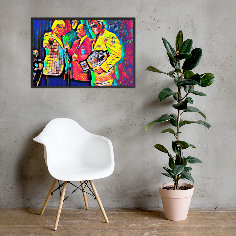 Image of Brain with Bock on Canvas