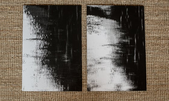 Image of Diptyque - Paysages abstraits - Tirages contrecollés 40x60cm