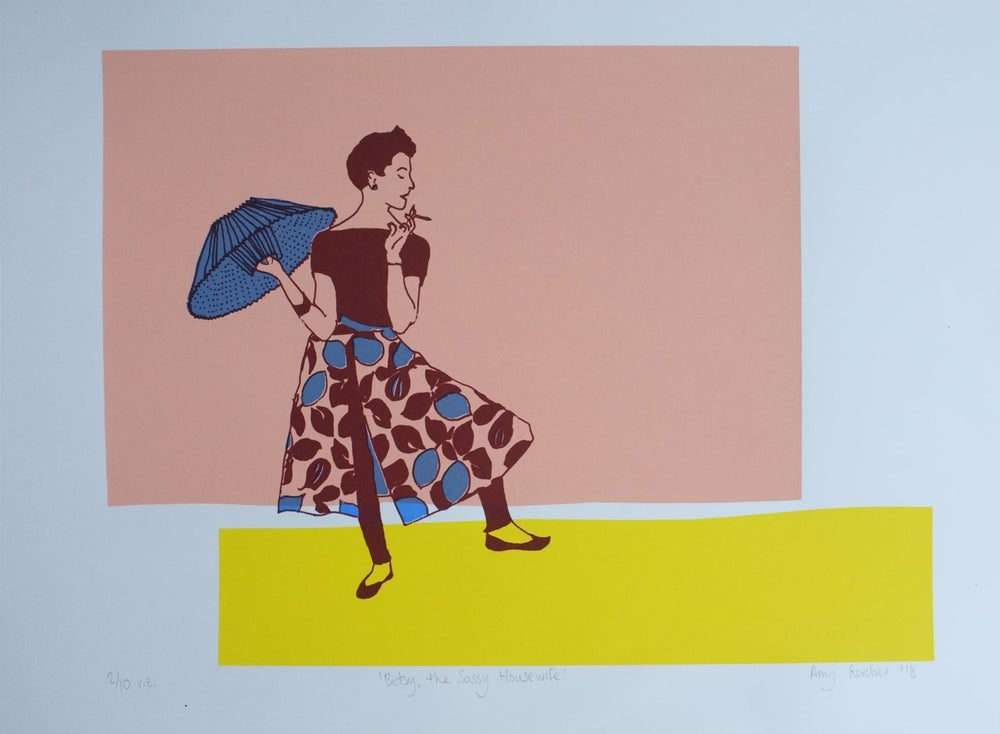 Image of Betsy, the Sassy Housewife Blue