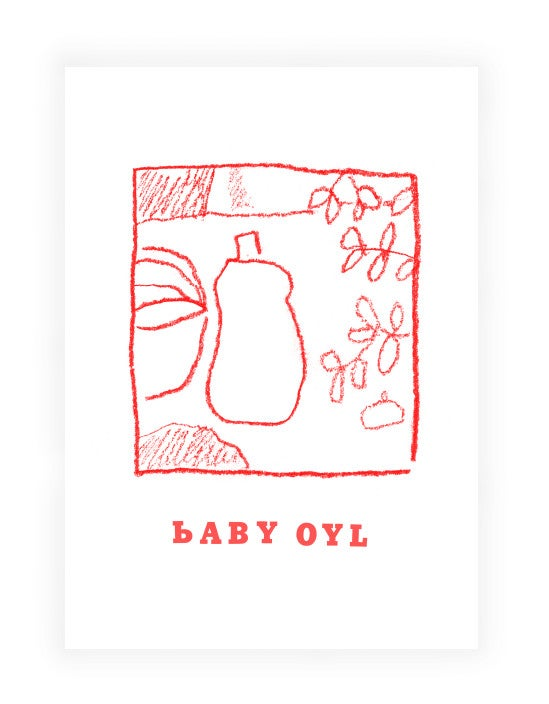 Image of Baby Oyl Postcard