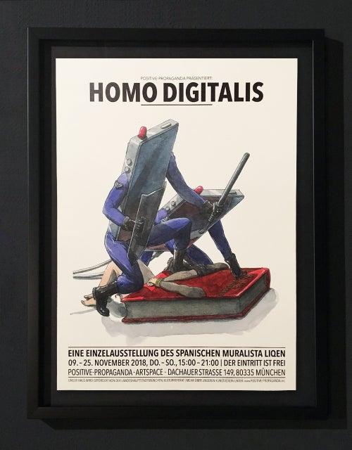Image of LIQEN - HOMO DIGITALIS - POSTER