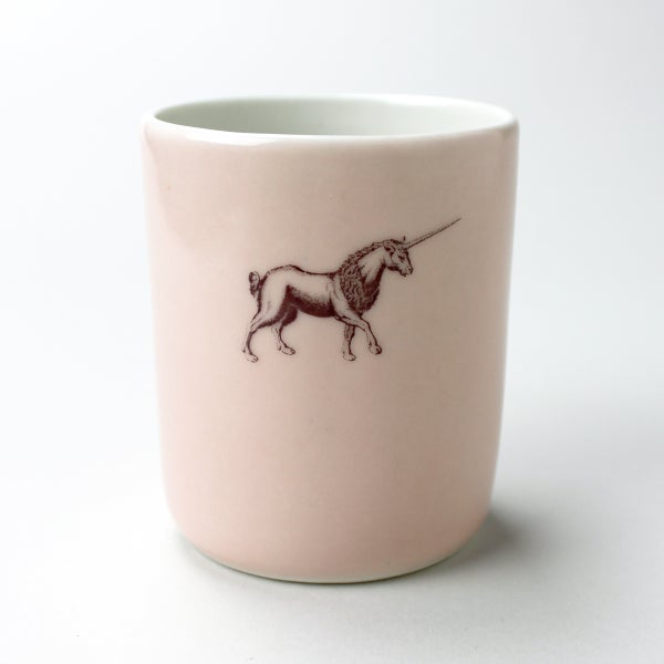Image of 10oz tumbler with unicorn, rose