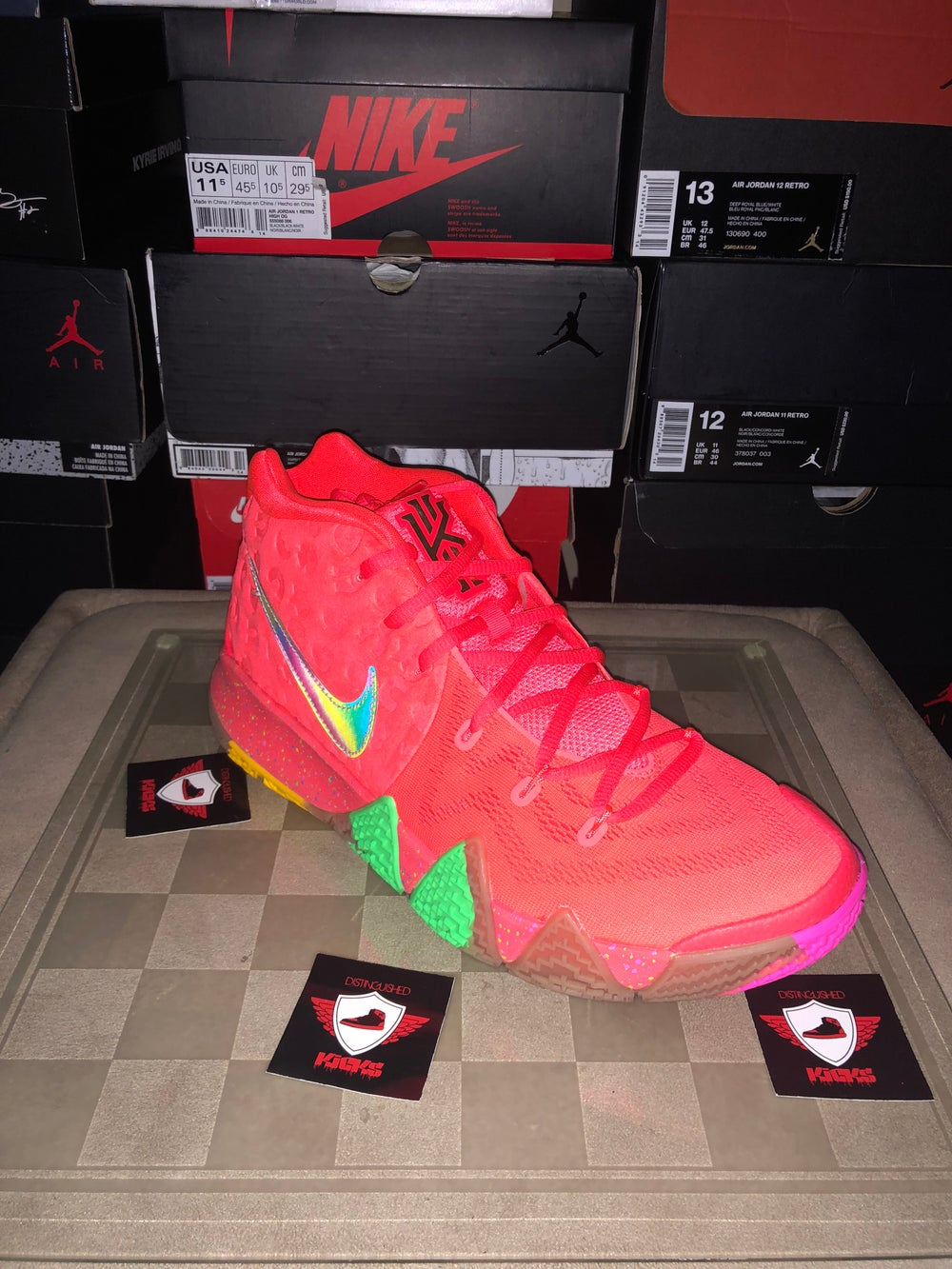 """detailed look 359af 7fa77 ... Image of Kyrie 4 """"Lucky Charms"""" ..."""