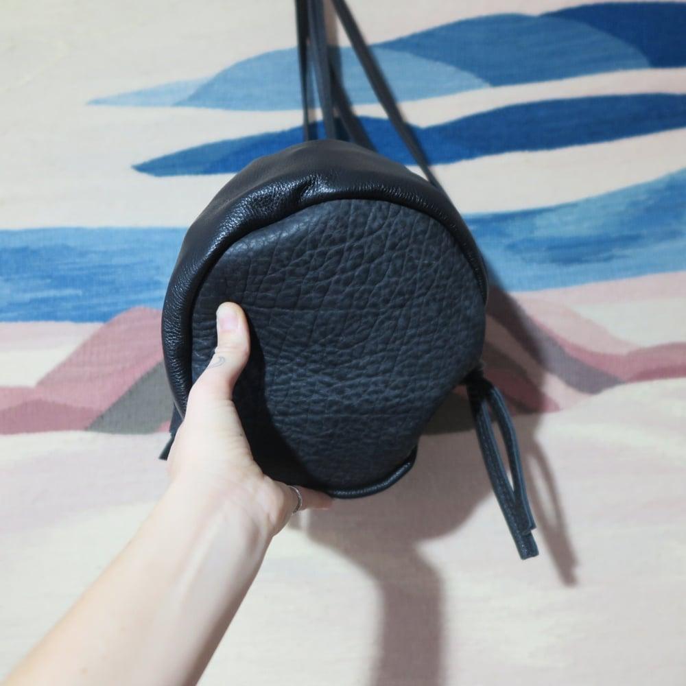 Image of Sadie + Tassels, Black with Bison bottom