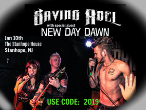 Image of Ticket for NEW DAY DAWN w/ SAVING ABEL at The Stanhope House