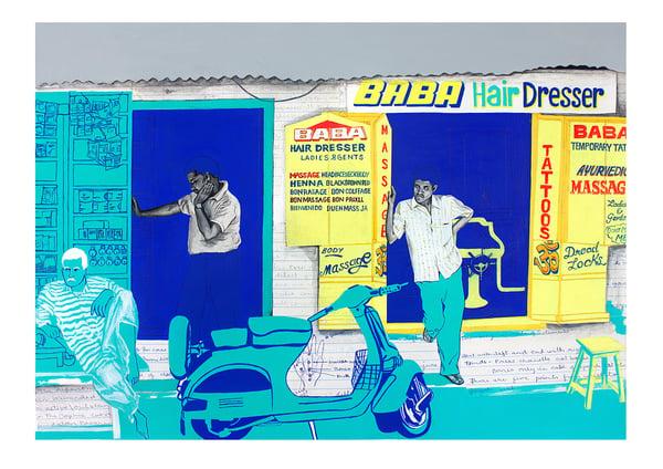 Image of Baba Hairdresser Print