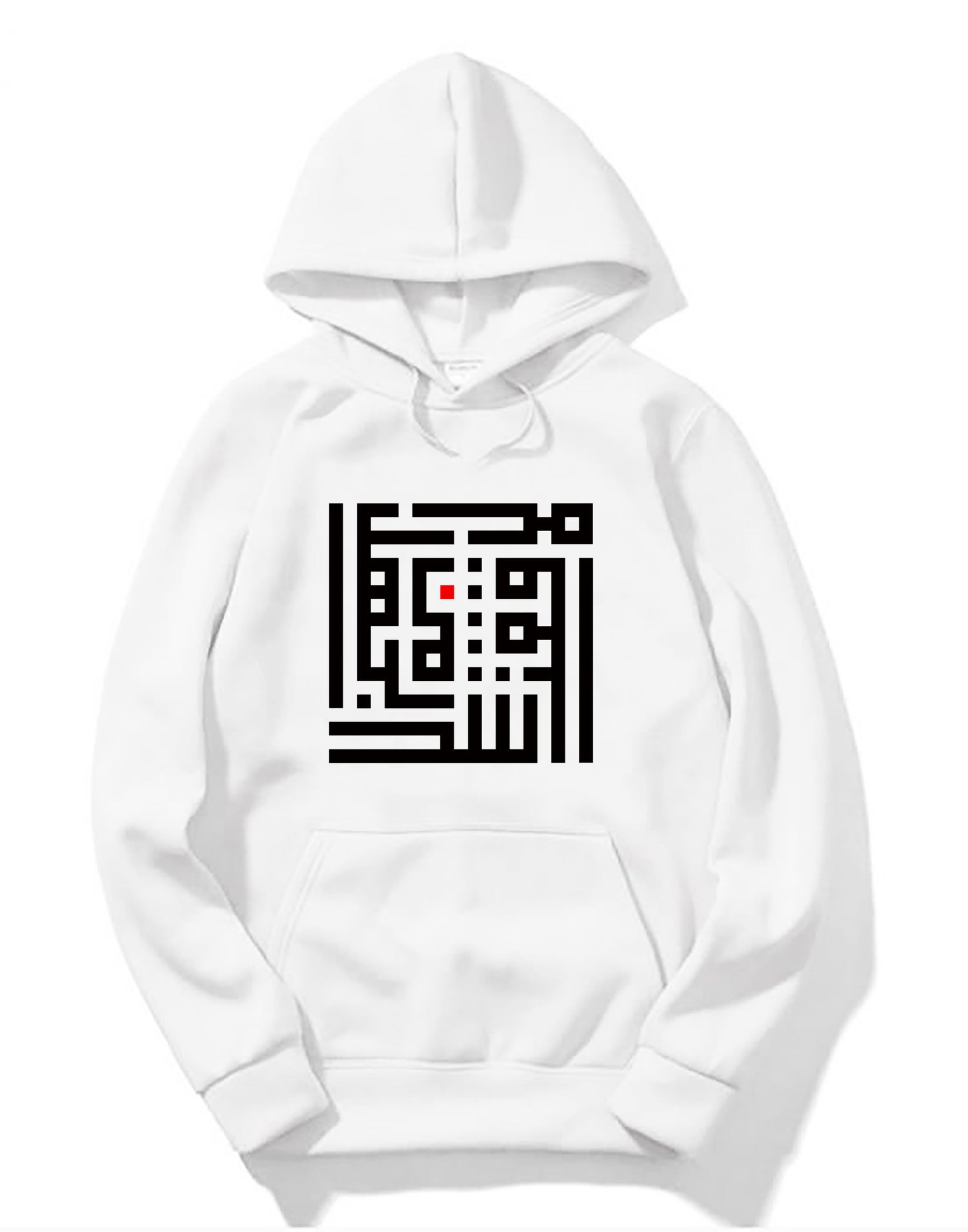 Image of Unisex Snow Hoodie - Black R calligraffiti by RamZ