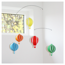 Image 2 of Hot Air Balloon Hanging Mobile _ Rainbow