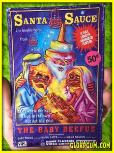 Image of Santa Sauce and the Baby Beefmus VHS Holiday cards