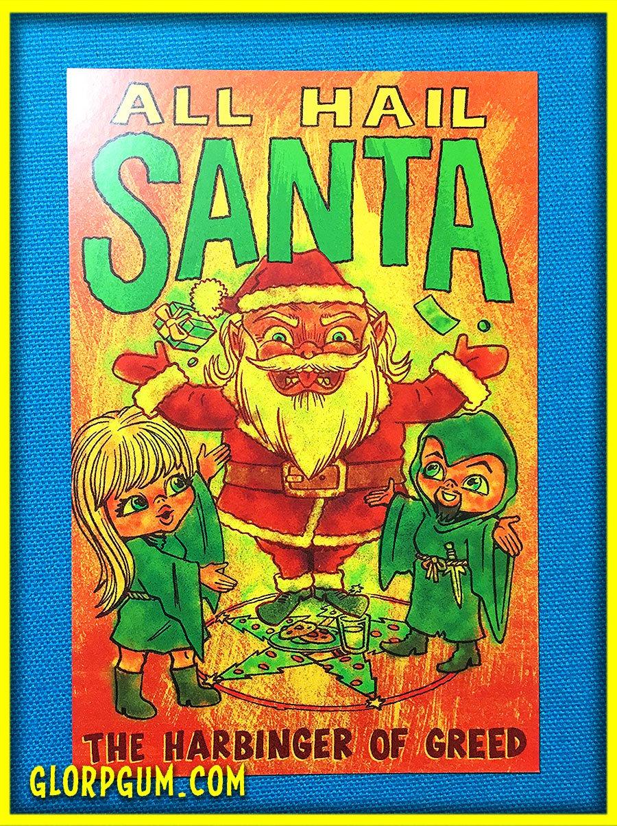 Hail Santa Holiday cards!