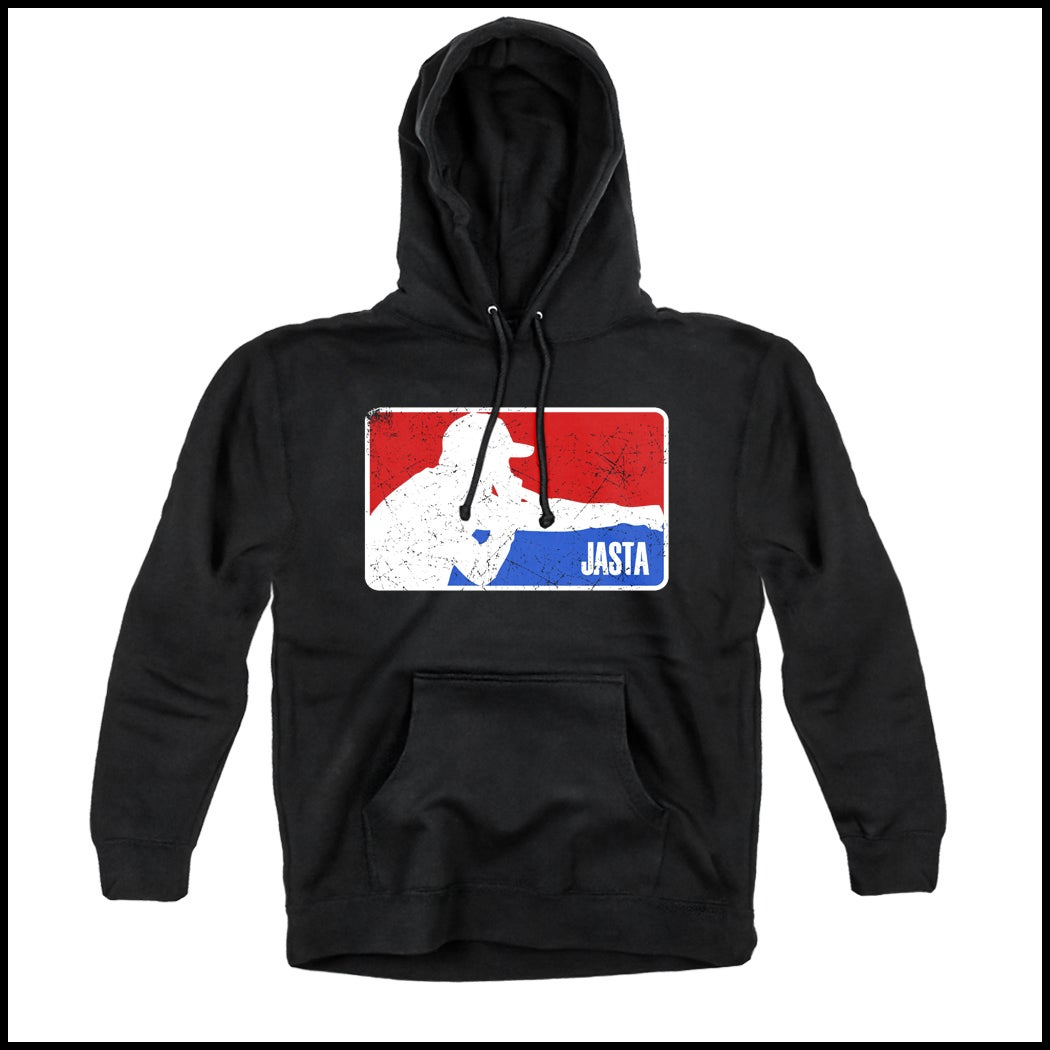 Image of JASTA HOODED PULLOVER SWEATSHIRT BLACK