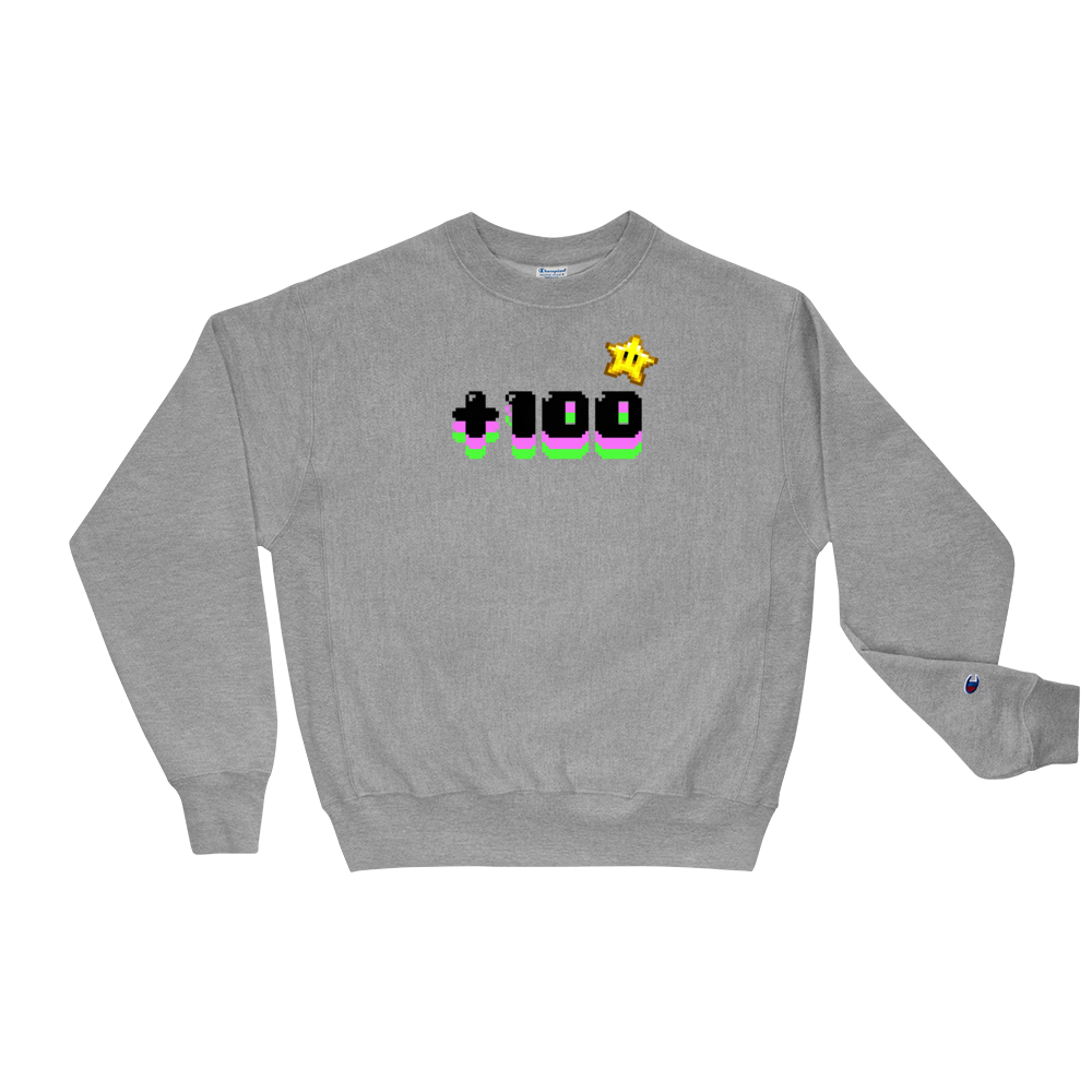 "Image of Sweatshirt  Crewneck Champion ""+100"""