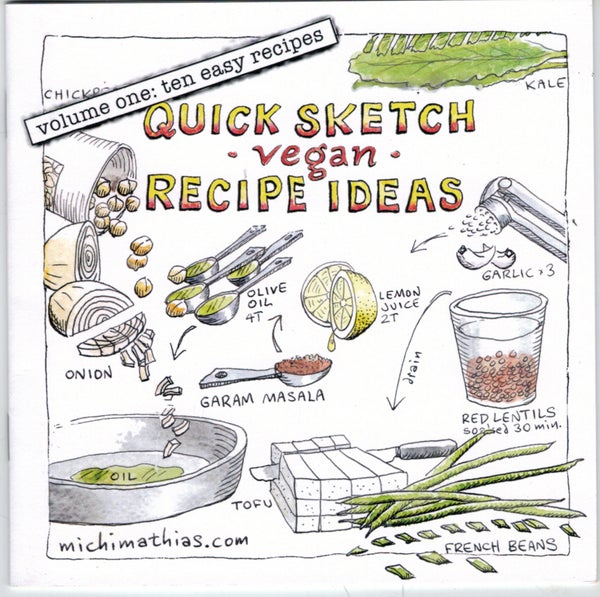 Image of Quick Sketch vegan Recipe Ideas - volume one