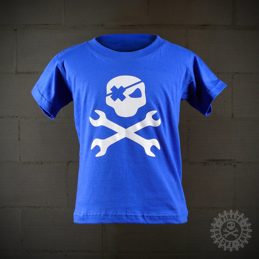 Image of T-SHIRT MECASKULL KID BLEU