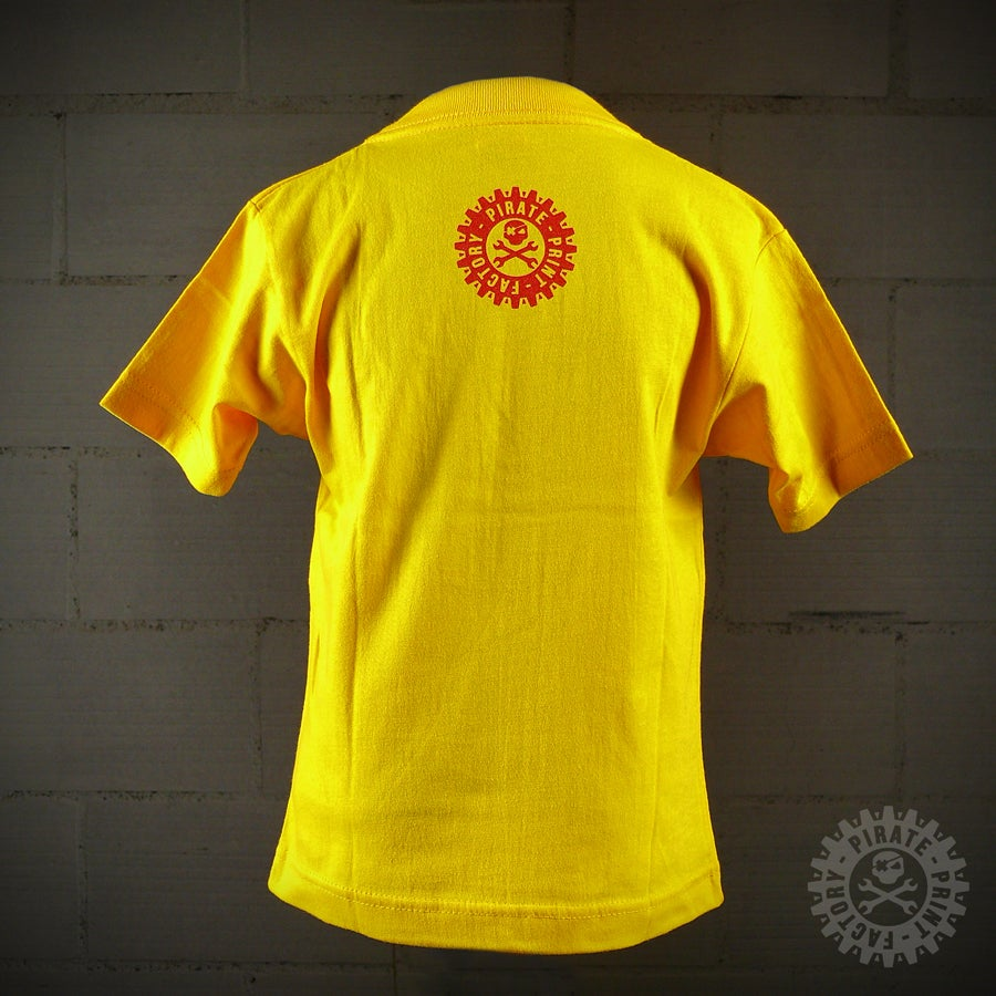 Image of T-SHIRT MECASKULL KID JAUNE/ROUGE
