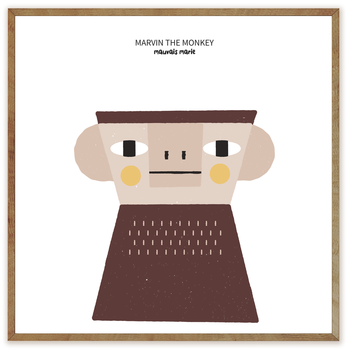 Image of Marvin the Monkey print