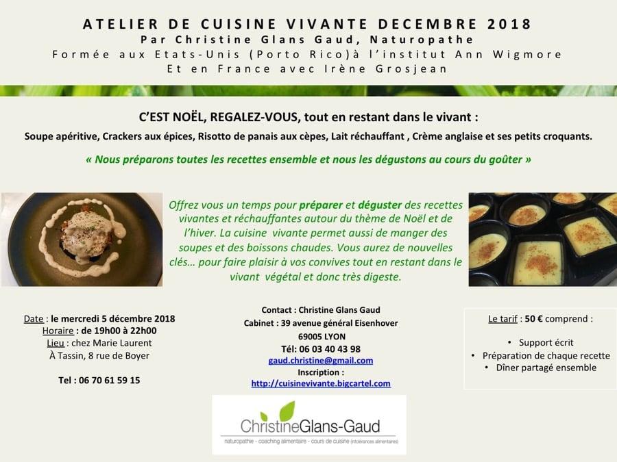 Image of Atelier cuisine vivante pour Noël à Tassin