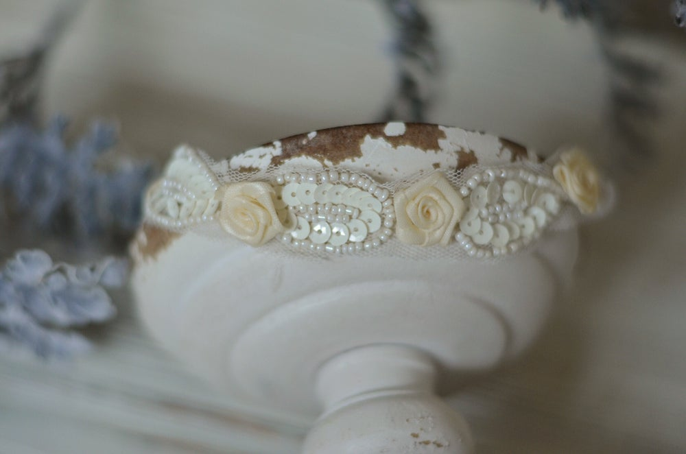 Image of Flowers and beads headband