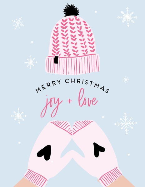 Image of Joy + Love Mittens Set of Six Note Cards