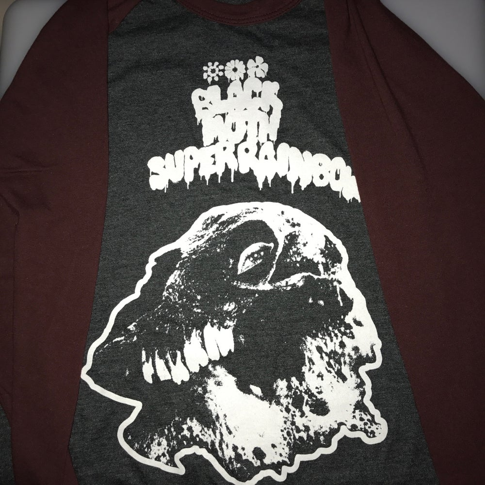 Image of Black Moth Super Rainbow FALL 2018 Raglan Tour Shirt MAROON