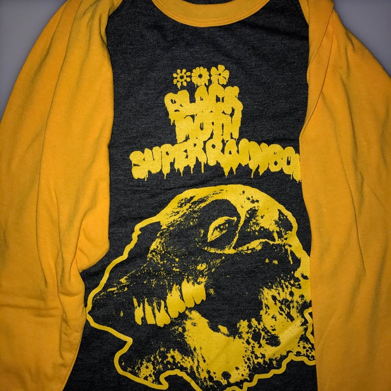 Image of Black Moth Super Rainbow SUMMER 2018 Raglan Tour Shirt YELLOW