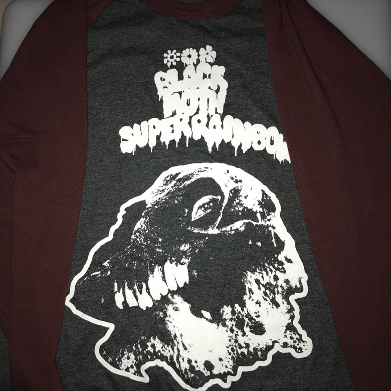 Image of Black Moth Super Rainbow SUMMER 2018 Raglan Tour Shirt MAROON