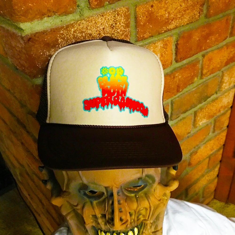 Image of Black Moth Super Rainbow Trucker Hat