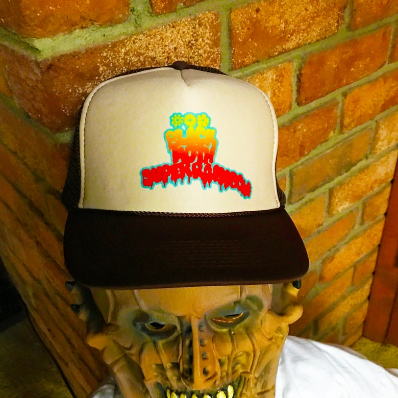 Image of Black Moth Super Rainbow Trucker Hat