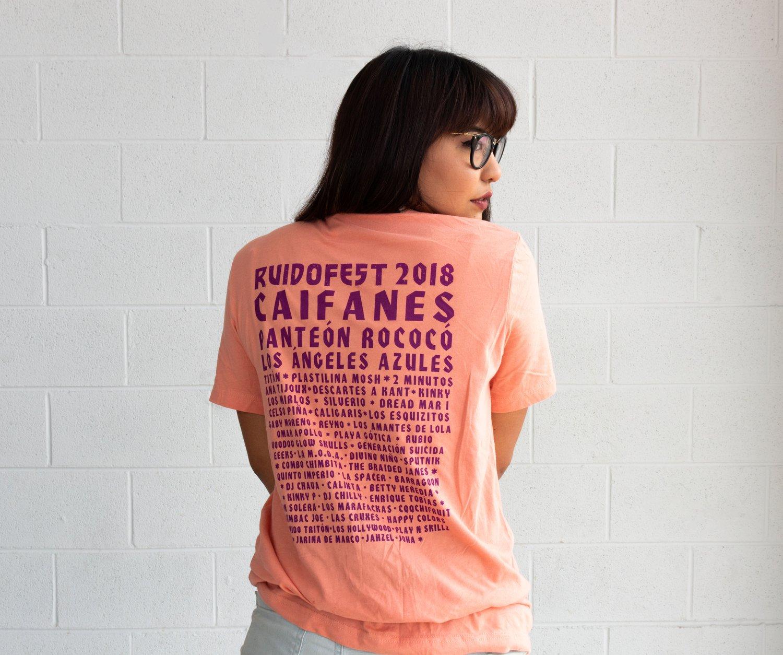 Image of Ruido Fest Lineup T-Shirt - Salmon