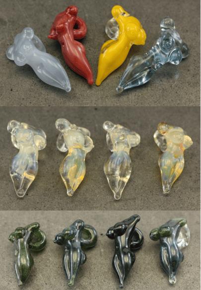 Image of HUGE SALE! Mini Female Form Glass Pendants