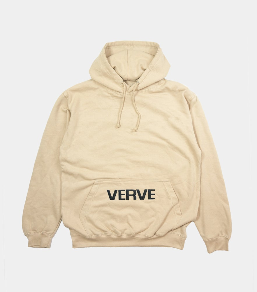 Image of Sand Embroidered Pocket Hoodie ... ee5818819