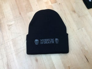 Image of M.O.D. Flip-Up Beenie Skulls Logo Black