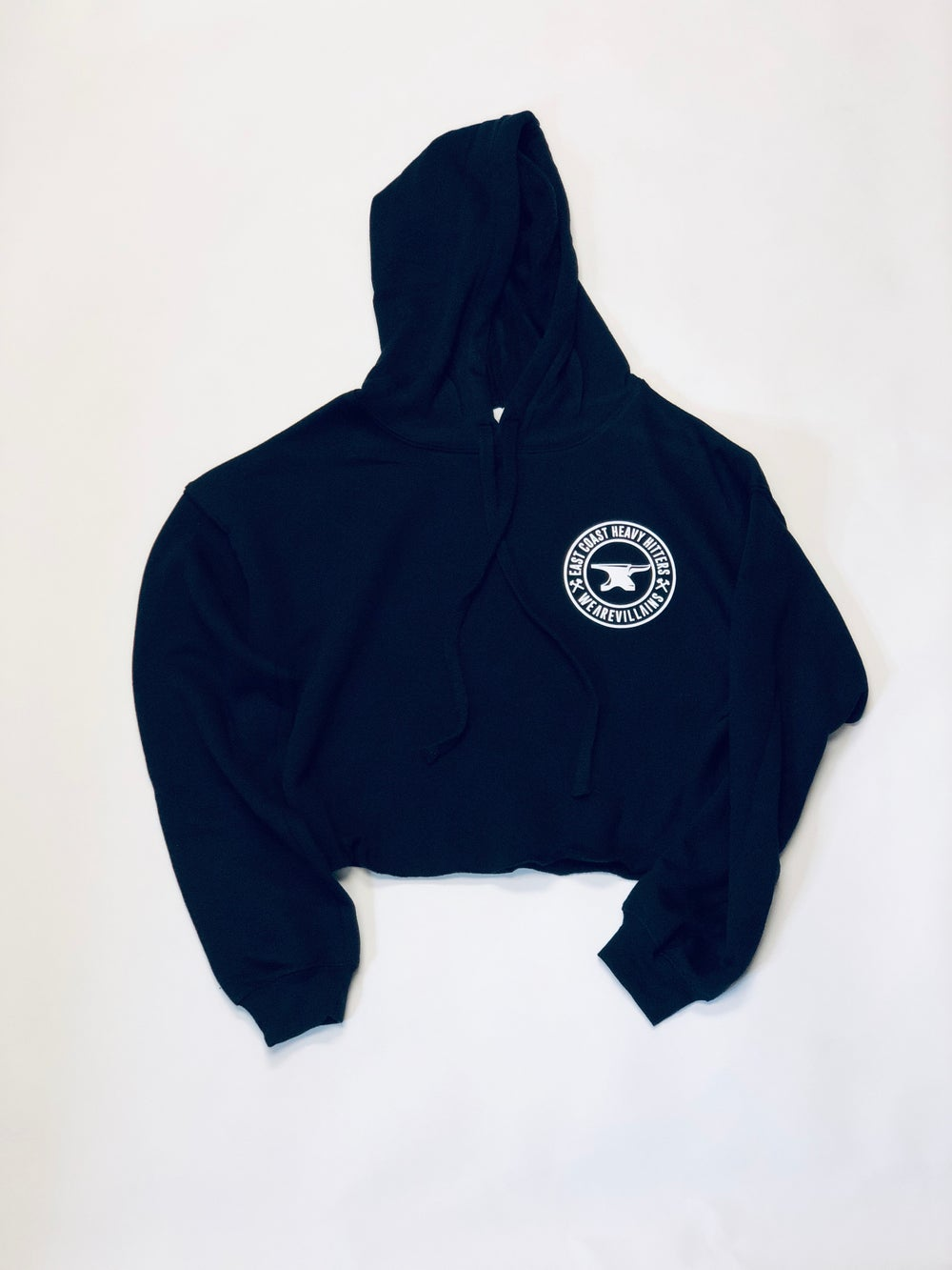 Image of ECHH crop fleece hoodie
