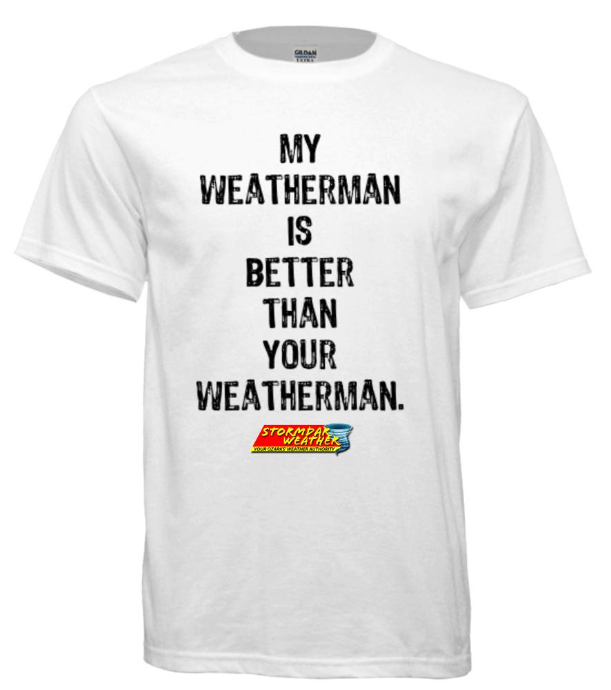 Image of My Weatherman (White, Short Sleeve)
