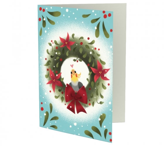 Image of Cockatiel Holiday Notecards (Set of 3)