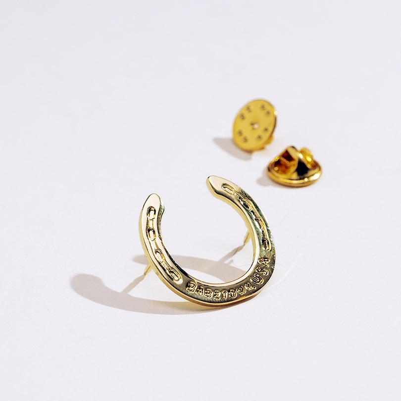 Image of BRASS MINI HORSESHOE PIN // BABETOWN, USA //