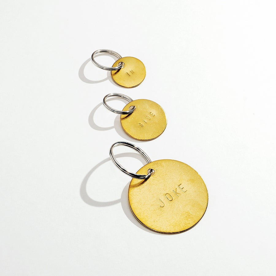 Image of CUSTOM HAND HAMMERED BRASS KEYCHAIN