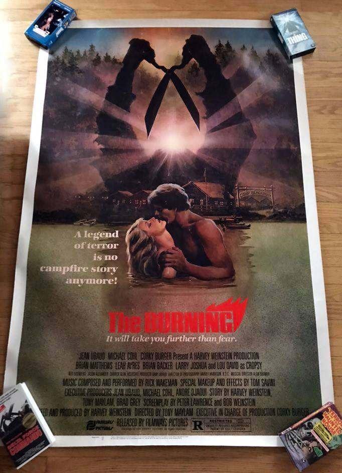 "Image of 1981 THE BURNING Original 40 x 60"" U.S. Drive-In Movie Poster"