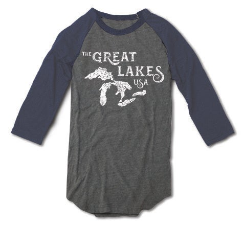 Image of Great Lakes, USA baseball tee