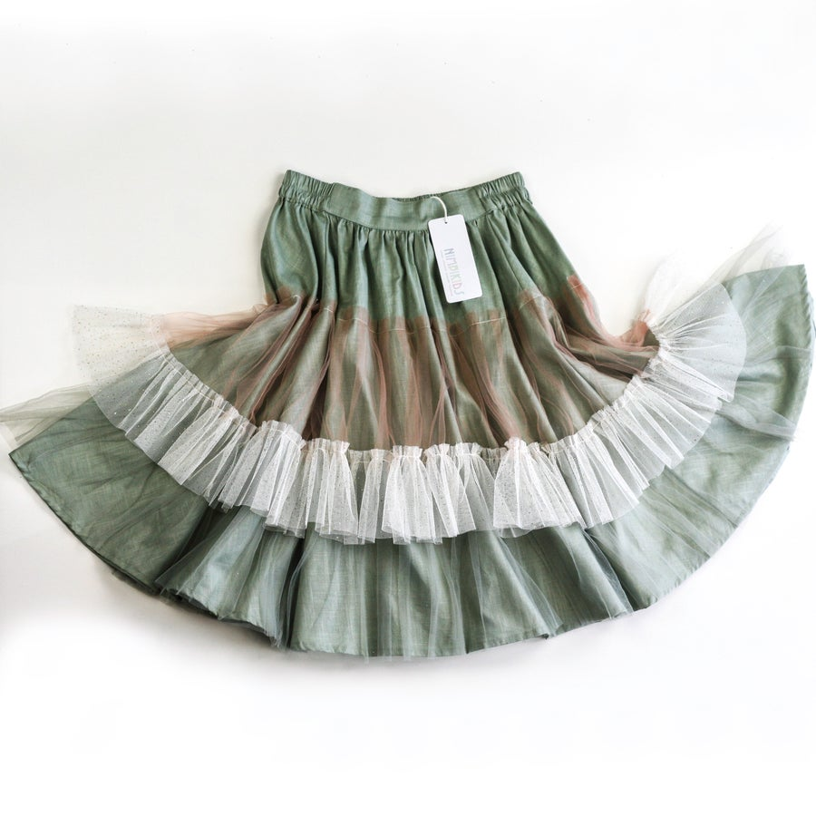 Image of Wonderland Tulle Skirt - Sage Marshmallow
